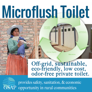 Global Sustainable Aid Microflush Toilet