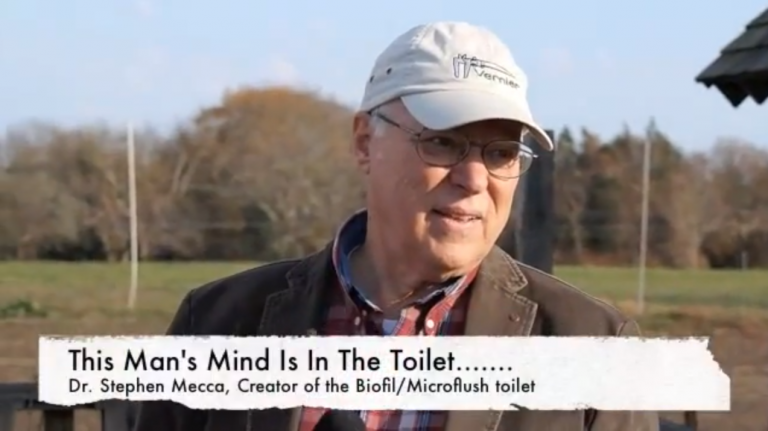 Steve explains the GSAP Microflush Toilet